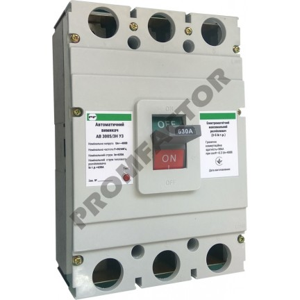 Автоматический выключатель АВ3005/3H 3-5In 3P In=630A