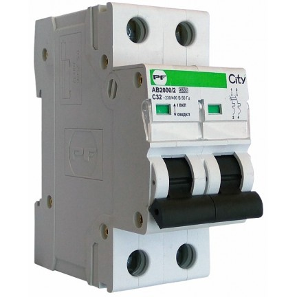 Автоматический выключатель ПФ City АВ2000/2 С 2р 50А (FB1-63)