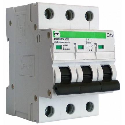 Автоматический выключатель ПФ City АВ2000/3 С 3р 50А