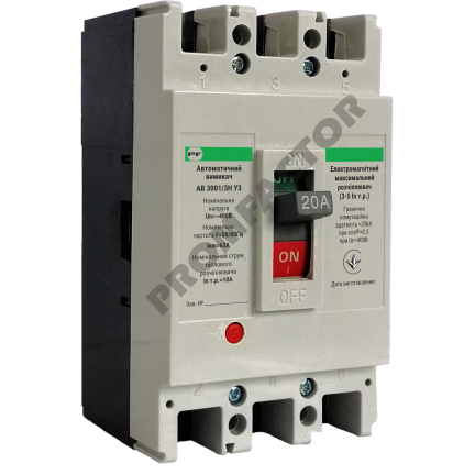 Автоматический выключатель АВ3001/3Н 3-5In 3P In=50A