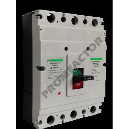 Автоматический выключатель АВ3006/3Н 3-5In 3P In=800A