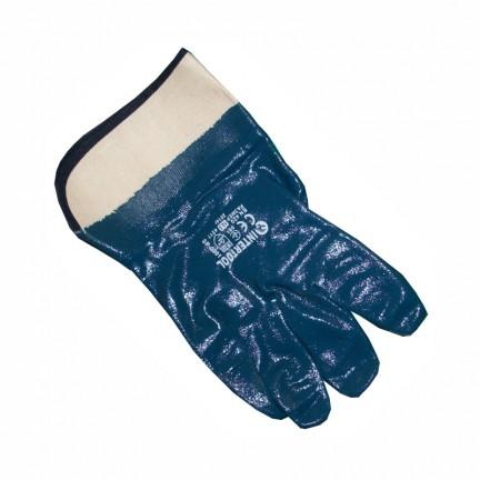 Перчатка синяя Б/М, твердый манжет