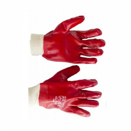 Перчатка МБС х/б с нанесением ПВХ красная