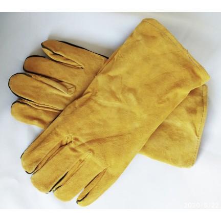 Перчатки краги плотные удлиненные желтые