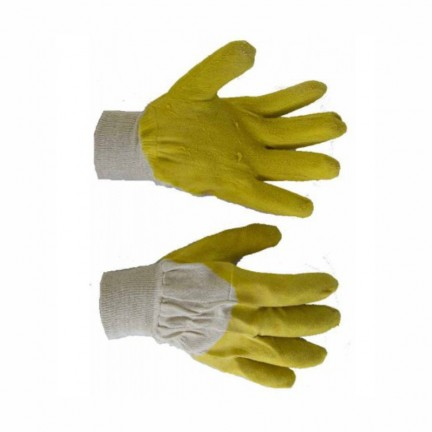 Перчатка стекло желтые