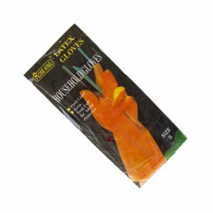 Перчатка  хозяйственная, латексная желтая