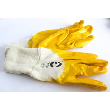 Перчатка нитрил (х/б + латекс оранжевая) 9 размер