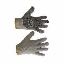 Перчатка FAR 550 трикотажная с ПХВ точкой белая