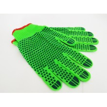 Перчатки х/б зеленые 11 размер БОЛЬШИЕ