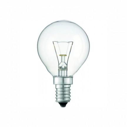 Лампа PHILIPS P-45 шар. прозрачная  40W Е14