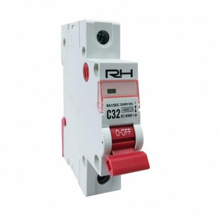 Автоматический выключатель RH 1p C 25A HN-401015