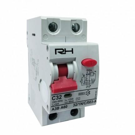 Автомат защитного отключения RH АЗВ 2Р 32А 30мА HN-403026 NEW