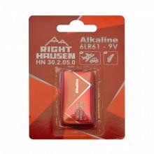 Батарейка RIGHT HAUSEN 6LR61 щелочная блистер 1х1  HN-302050