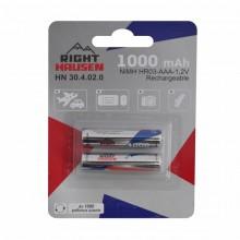 Аккумулятор RIGHT HAUSEN HR03 1000mAh блистер 1х2   HN-304020