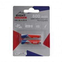 Аккумулятор RIGHT HAUSEN HR03 800mAh блистер 1х2   HN-304030