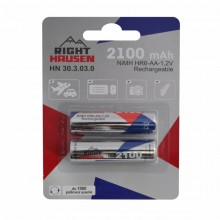 Аккумулятор RIGHT HAUSEN HR06 2100mAh блистер 1х2   HN-303030