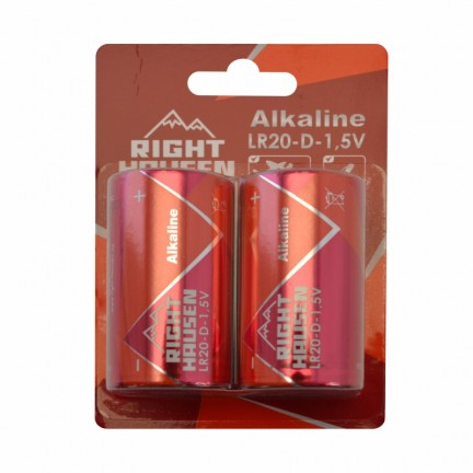 Батарейка RIGHT HAUSEN LR20 щелочная блистер 1х2   HN-302040