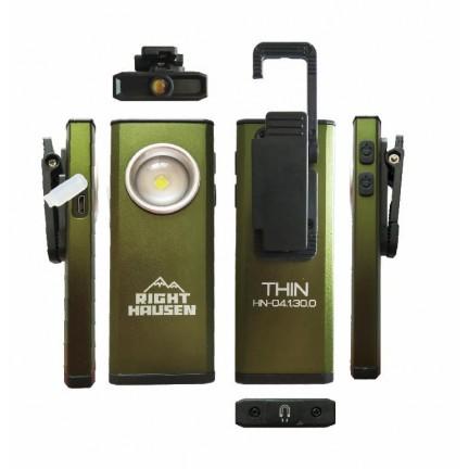 Фонарик RIGHT HAUSEN THIN 5W+1W 1500 mAh зеленый HN-312112