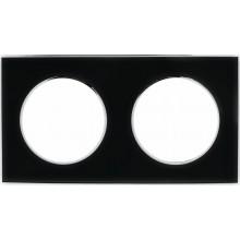 Рамка RIGHT HAUSEN LAURA 2-я вертикальная черная HN-015252