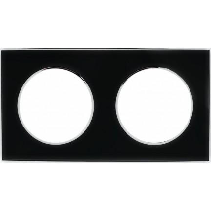 Рамка RIGHT HAUSEN LAURA 2-я горизонтальная черная HN-015252