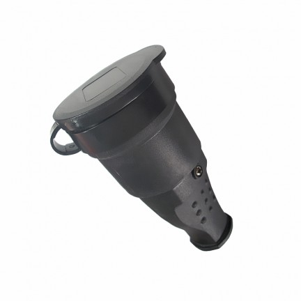 Гнездо RIGHT HAUSEN Waterproof штепсельное с заземлением черное IP44 HN-022032N