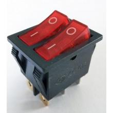 Кнопка RIGHT HAUSEN KCD8-221 N с подсветкой HN-482070 NEW