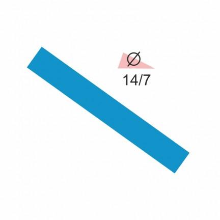 Термоусадочная трубка RIGHT HAUSEN 14,0/7 синяя