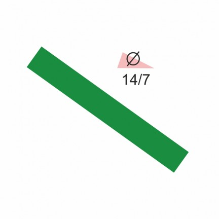 Термоусадочная трубка RIGHT HAUSEN 14,0/7 зеленая