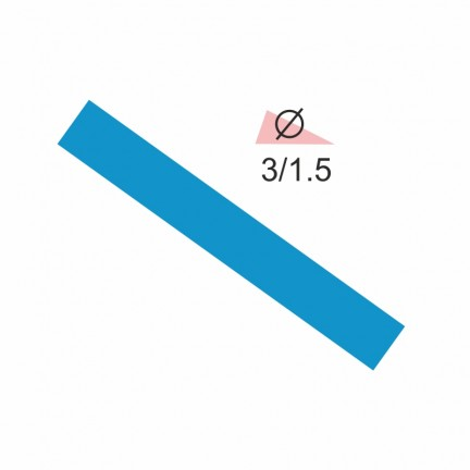 Термоусадочная трубка RIGHT HAUSEN 3,0/1,5 синяя
