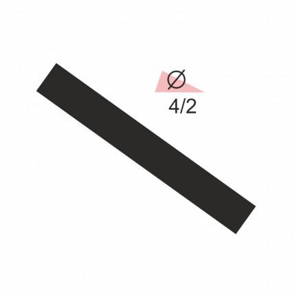 Термоусадочная трубка RIGHT HAUSEN 4,0/2 черная