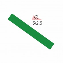 Термоусадочная трубка RIGHT HAUSEN  5,0/2,5 зеленая