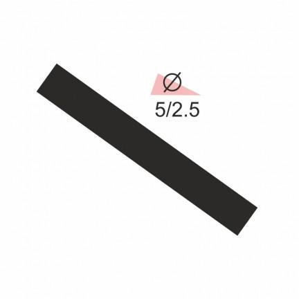 Термоусадочная трубка RIGHT HAUSEN  5,0/2,5 черная