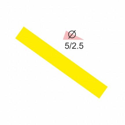 Термоусадочная трубка RIGHT HAUSEN  5,0/2,5 желтая