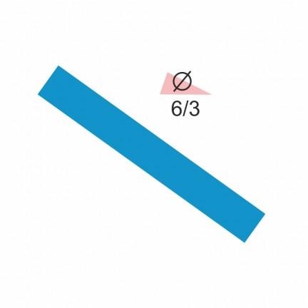 Термоусадочная трубка RIGHT HAUSEN  6,0/3 синяя