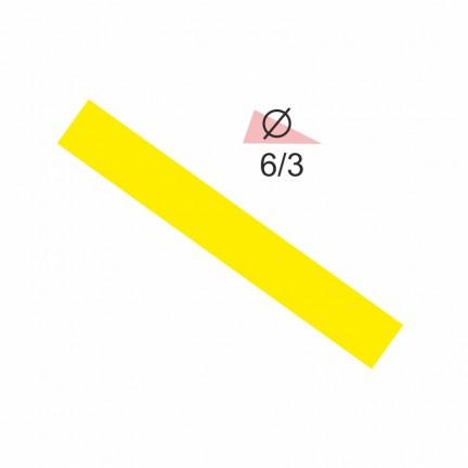 Термоусадочная трубка RIGHT HAUSEN  6,0/3 желтая