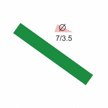 Термоусадочная трубка RIGHT HAUSEN  7,0/3,5 зеленая