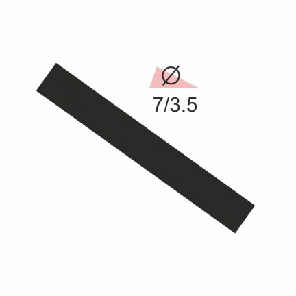 Термоусадочная трубка RIGHT HAUSEN  7,0/3,5 черная