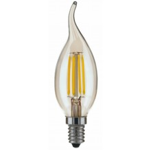 Лампа RIGHT HAUSEN LED Platinum Filament СВЕЧА НА ВЕТРУ 6W E14 4000K золотая C35T HN-264031 NEW