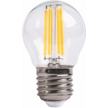 Лампа RIGHT HAUSEN LED Platinum Filament ШАР 6W E27 4000K, прозрачная G45 HN-265040 NEW