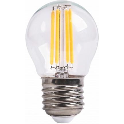Лампа RIGHT HAUSEN LED Platinum Filament ШАР 6W E27 4000K, прозрачная G45 HN-265040 NEW