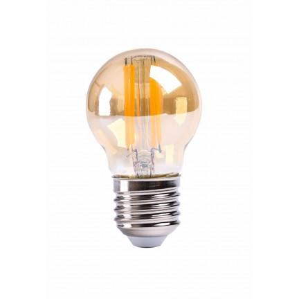 Лампа RIGHT HAUSEN LED Platinum Filament ШАР 6W E27 4000K, золотая G45 HN-265041 NEW