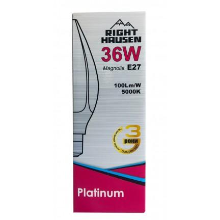 Лампа RIGHT HAUSEN LED Platinum MAGNOLIA 36W E27 5000K  HN-158032