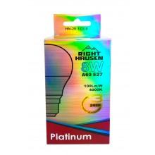 АКЦИЯ Лампа RIGHT HAUSEN LED Platinum A60 8W E27 4000K HN-281020