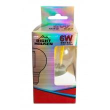 Лампа RIGHT HAUSEN LED Platinum Filament ШАР 6W E27 4000K прозрачная G45 HN-265040 NEW