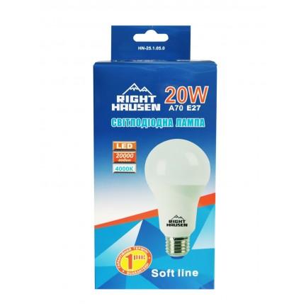 Лампа RIGHT HAUSEN LED Soft line A70 20W E27 4000K HN-251050