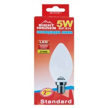 Лампа RIGHT HAUSEN LED Standard СВЕЧА 5W E14 2700K  HN-154011