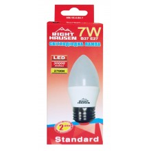Лампа RIGHT HAUSEN LED Standard СВЕЧА 7W E27 2700K  HN-154041
