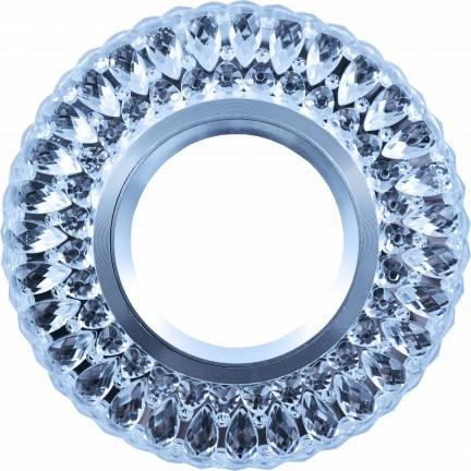 Светильник встраиваемый LED PANEL RIGHT HAUSEN CRYSTAL 2 MR16+3W LED 4000K BLUE HN-275032 NEW