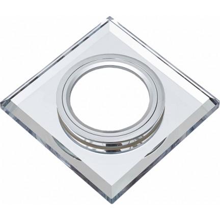 УЦЕНКА Светильник встраиваемый MR16 RIGHT HAUSEN Mirror квадрат белый HN-276061