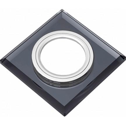 Светильник встраиваемый MR16 RIGHT HAUSEN Mirror квадрат черный HN-276062